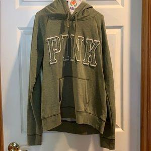 Green PINK Victoria's Secret Sweatshirt